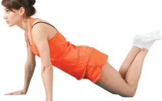 Отжимания от пола с колен для груди