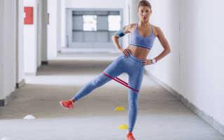 Махи ногами для ягодиц стоя для средней и малой ягодичных мышц