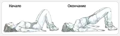 Мостик лежа выполнение упражнения