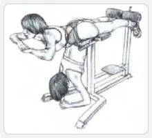 Поясничные прогибания - выполнение упражнения