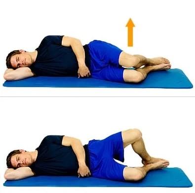 Отведение ноги лежа на боку